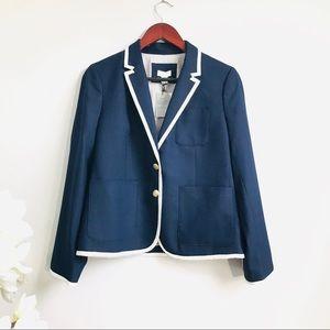 Jcrew factory piping blazer in navy (427)
